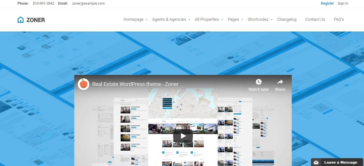 Responsive Realtor WordPress Theme