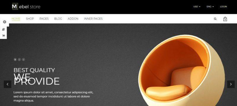 Responsive furniture Store WordPress Theme