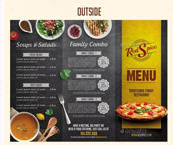 Restaurant Brochure Template PSD