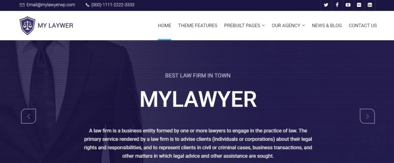 Retina Ready Lawyer WordPress Theme