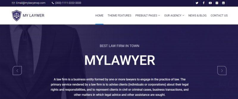 Retina Ready Lawyer WordPress Theme