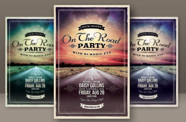 Retro Grunge Flyer Template