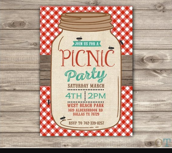 Rustic Pic Nic Party Template