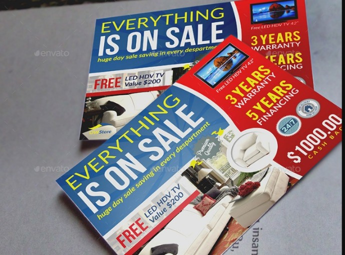 Sale Marketing Flyer Template