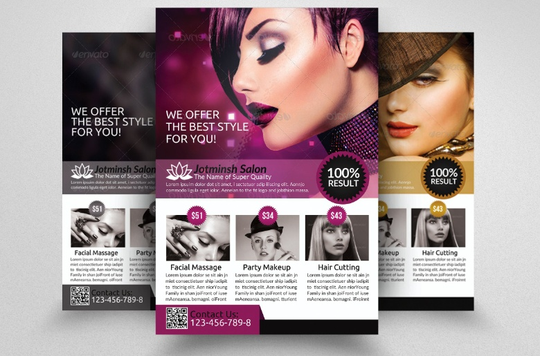 Salon Advertisement Flyer Template