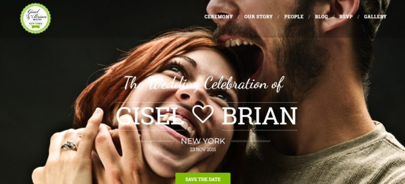 Simple Wedding WordPress Theme