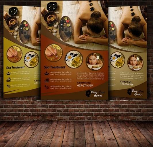 Spa Advertisement Flyer Template