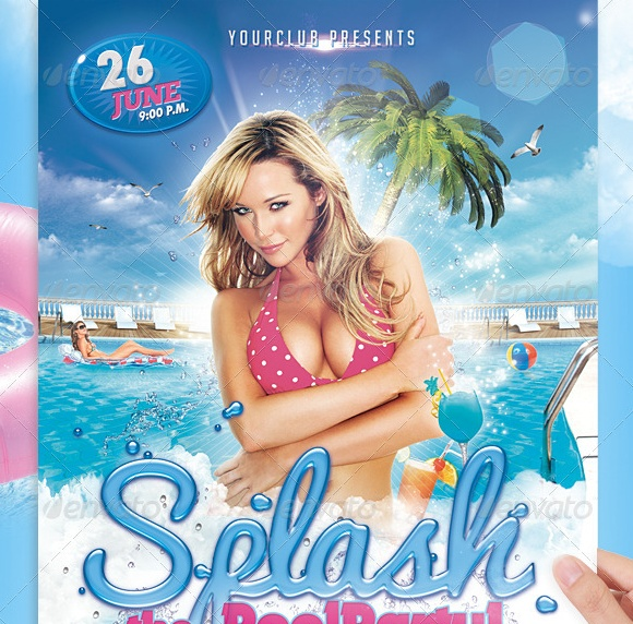 Splash Party Flyer Template PSD