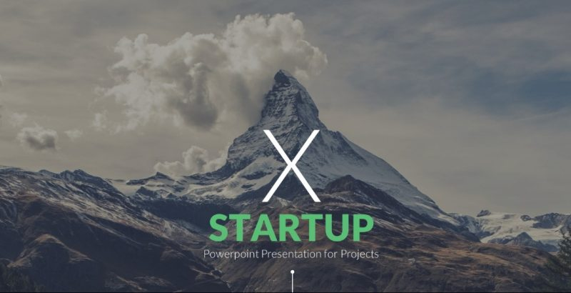 Startup Pitch Desk PowerPoint Template