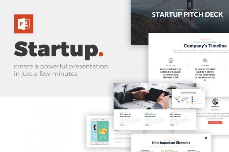 Startup Pitch Template PSD