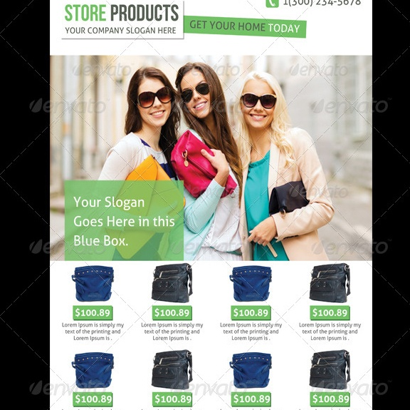 Store Products Flyers Template PSD