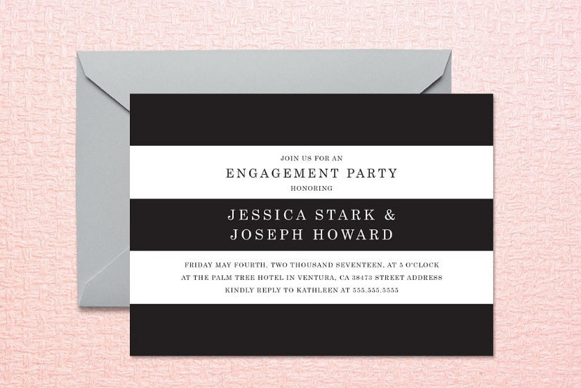 Striped Invitation Template PSD