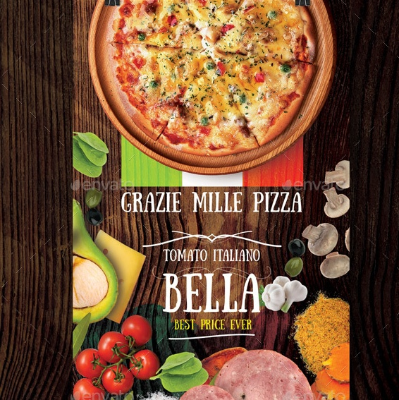 Stylish Pizza Flyer Template