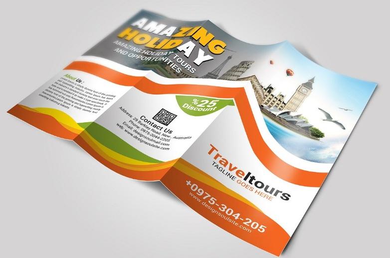 Toursim Brochure Template PSD