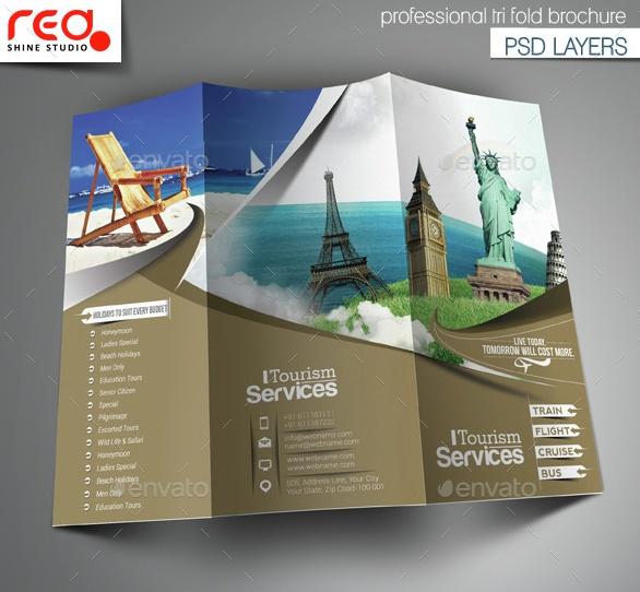 Toursim Trifold Brochure Template