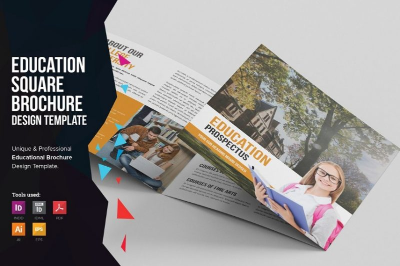 Tri Fold Educational Brochure Template