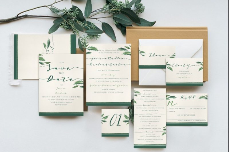 Tropical Wedding Suite Template