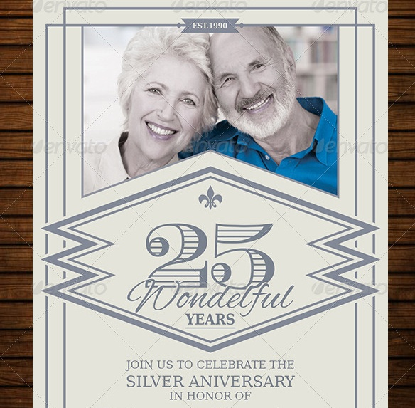 Vintage Anniversary Flyer Template