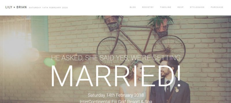 Wedding Photography WordPress Theme