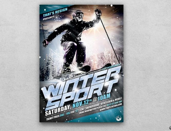 Winter Sports Flyer Template