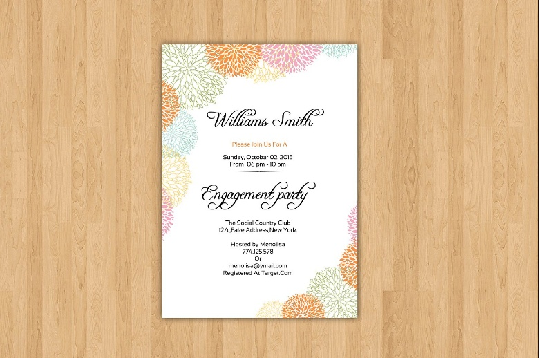 Word Engagement Invitation Template
