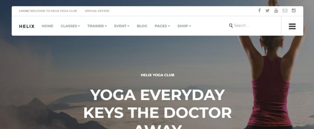 Yoga Club WordPress Theme