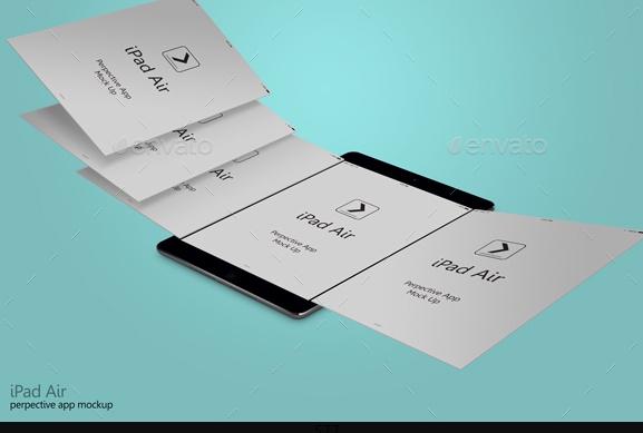 iPad Air App Mockup