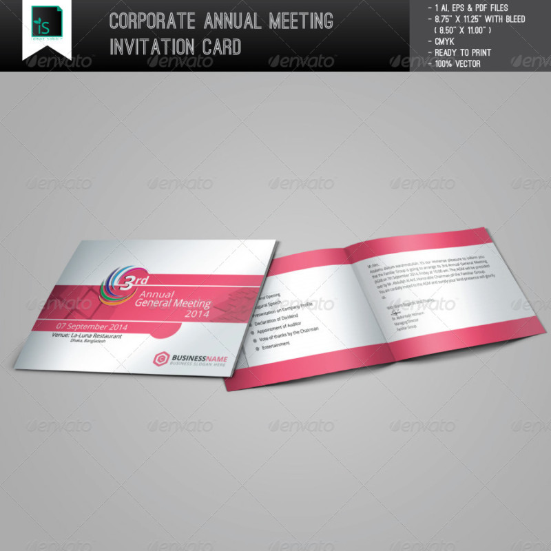 Creative Meeting Invitation Letters Flyer Templates