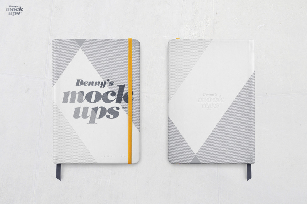 notebook mockup psd leather book website free template