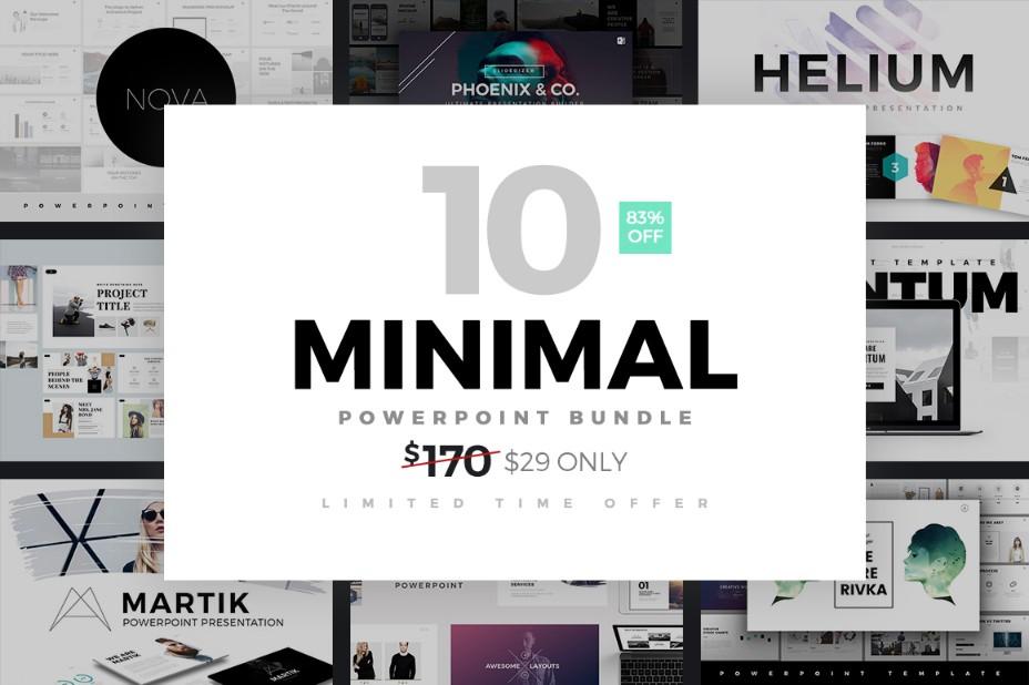 10-minimal-powerpoint-template-bundle