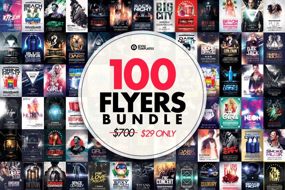 100 Flyers Template Bundle