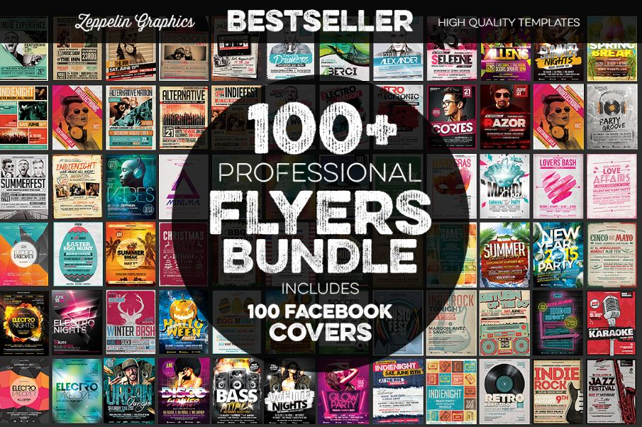 100+ Professional Flyers Temlate Bundle Pack