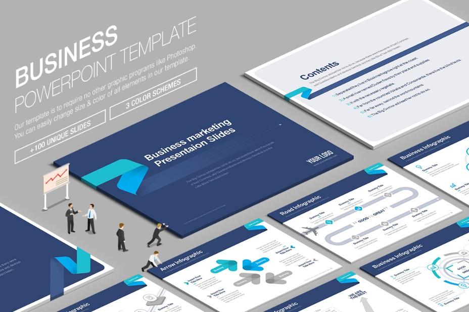 100-unique-business-powerpoint-template
