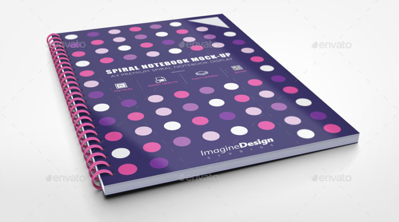Note Book Mockups PSD A4_Spiral_Notebook_Mockup_book cover mockup package