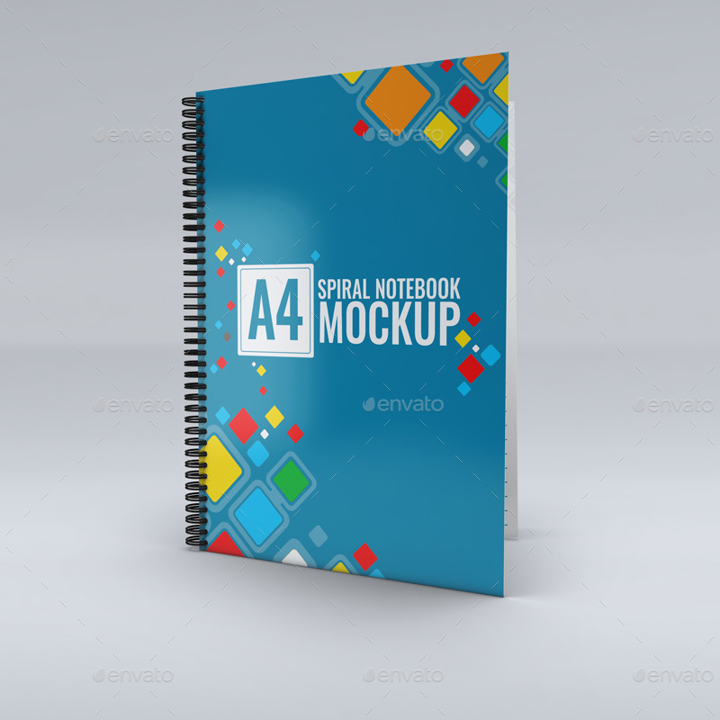 Spiral-Notebook-Mock-Up creative book cover mockup design