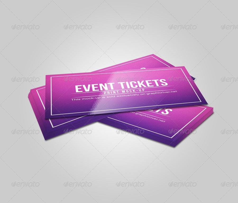 Event & Concert Ticket Mockup PSD event ticket movie film ticket mockups psd free