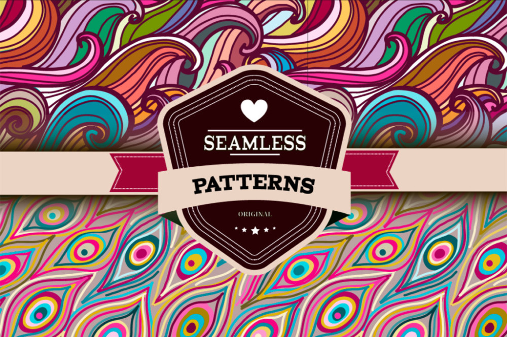 Seamless Patterns for Photoshop and Illustrator free-ai-patterns