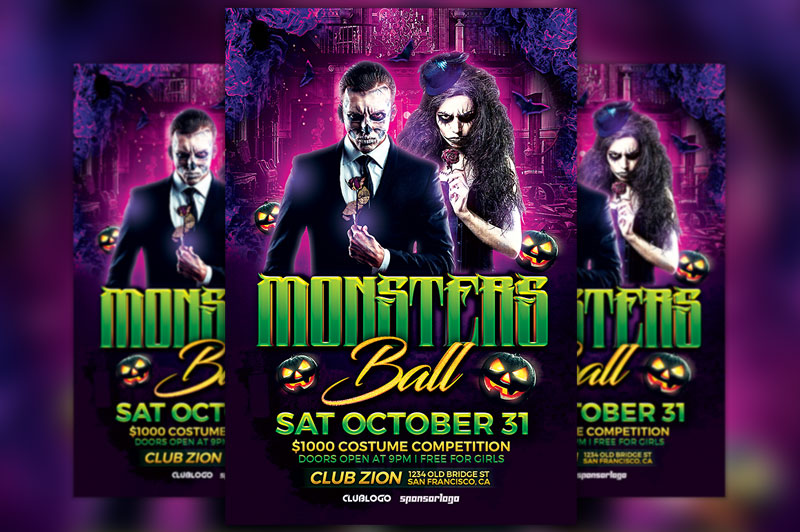 monsters-ball-flyer-template-awesomeflyer-com-free-printable-halloween