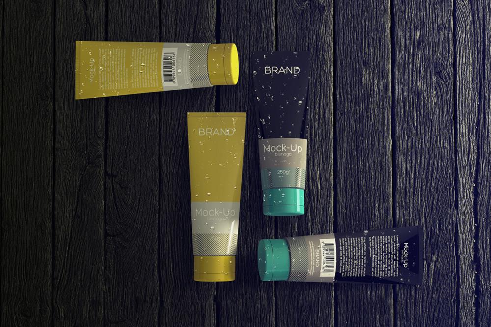 bisnaga_cosmetcs_mockup_graxaim mockup cosmetic branding packaging mockup