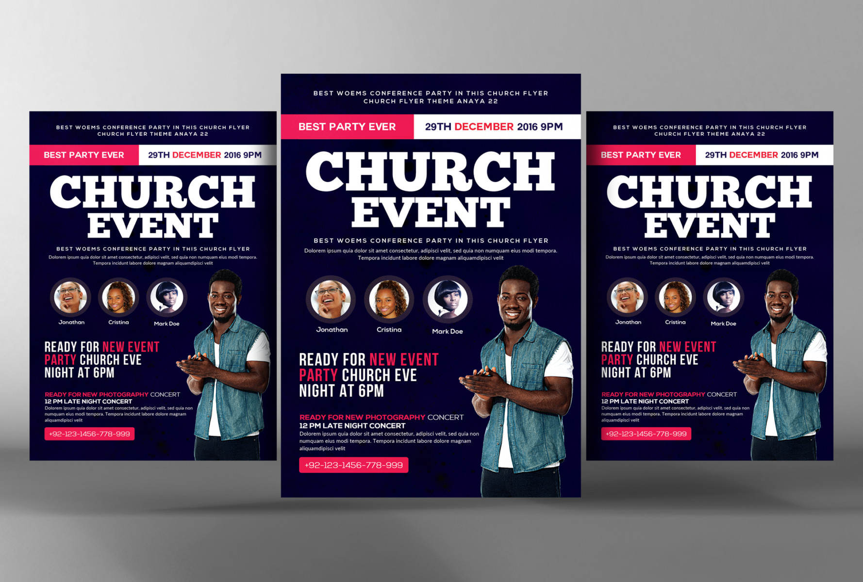 Church Flyer Templates For Photoshop