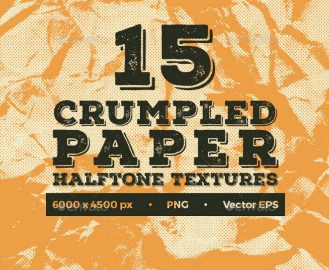 15 Crumpled Paper Textue PNG
