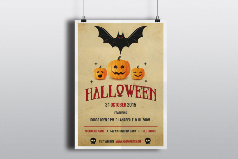 halloween flyers templates free