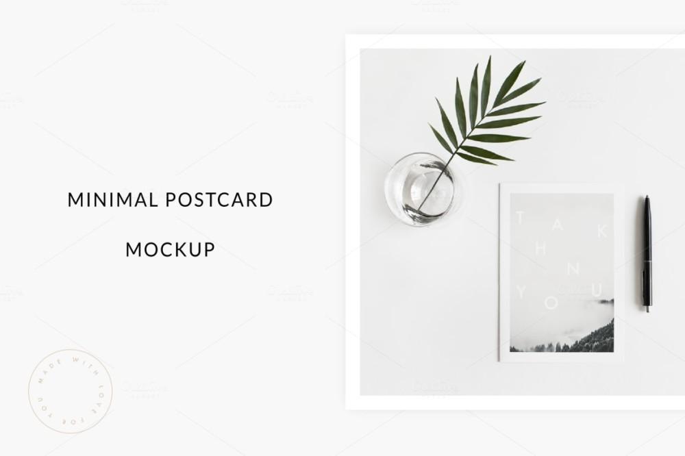 minimal post card template mockup psd envelope mockups
