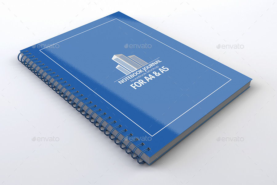 Notebook Mock-Up book for branding psd template paper cover