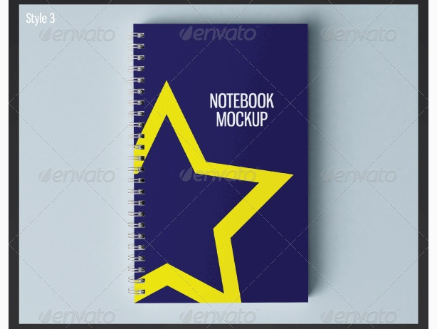 binder book memo psd mockup log letter head work book