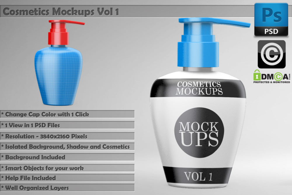 cosmetics-branding package mockup shampoo mockup