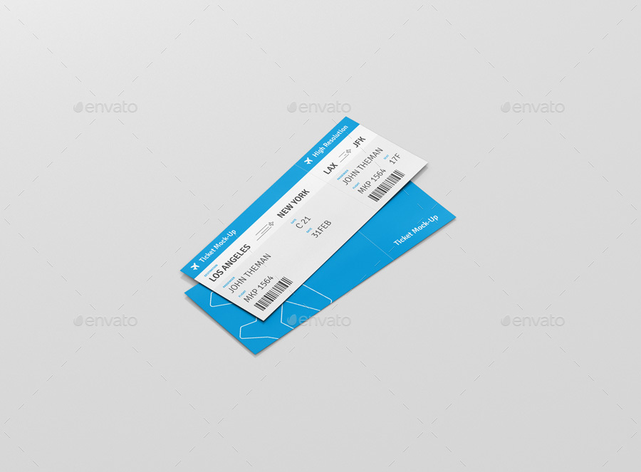 travel ticket template