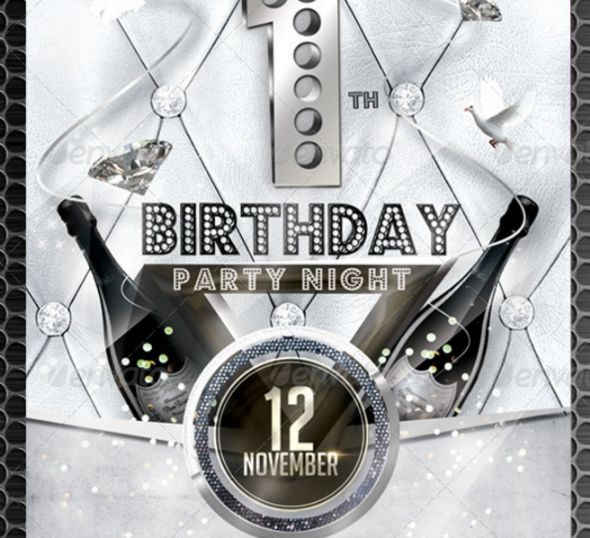 1st Birthday Flyer Template PSD