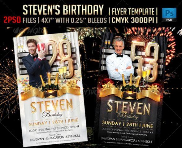 2 PSD Birthday Flyer Templates