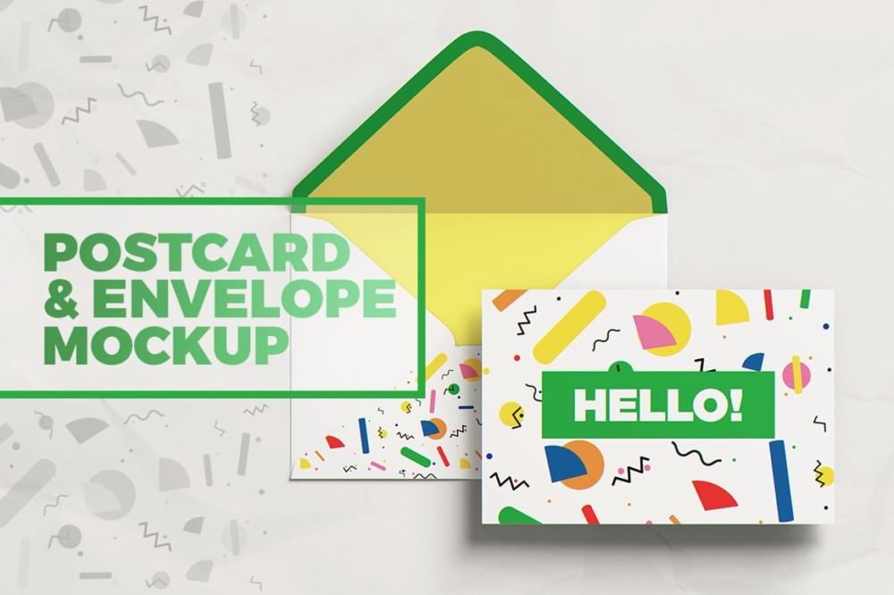 amazing party postcard mockups design mockup templates free envelope